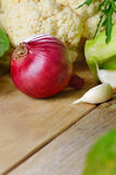 Onion and greens Stock Photography