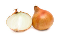Onion and a half. Fresh ripe onion and a half. Isolation Stock Photography