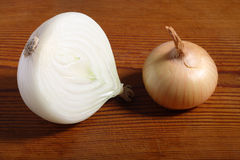 Onion and a half Royalty Free Stock Image