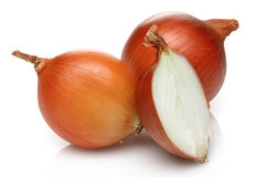 Onion and half onion Stock Images