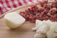 Onion with ham Stock Images