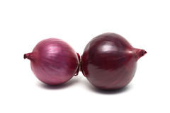 Onion isolated on white background close up. Stock Images