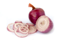 Onion and ist slices Stock Images