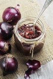 Onion jam Stock Photo