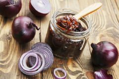 Onion jam Royalty Free Stock Photos