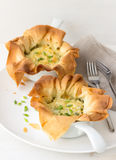 Onion mini tarts Royalty Free Stock Image
