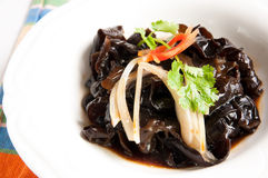 Onion mix fungus. Chinese cuisine-Onion mix fungus stock photography