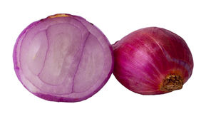 Onion and Onion Sliced. On isolated white Royalty Free Stock Images