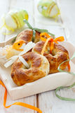 Onion and oregano buns. For Easter Stock Image