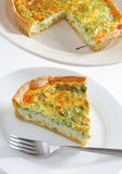 Onion and parsley quiche Stock Photos