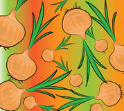 Onion pattern. Vector illustration of a onions on a colourful background royalty free illustration