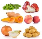 Onion, Peach, potato, rose apple, butternut squash,  soy beans Royalty Free Stock Photos