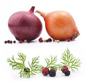 Onion and pepper Stock Photos
