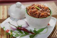 Onion Pickle/Vengayam Oorukkai Royalty Free Stock Image