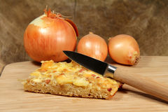 Onion pie Stock Photos