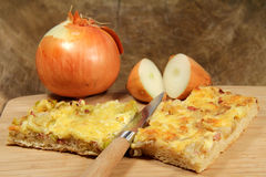 Onion pie Royalty Free Stock Images