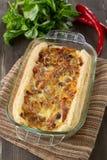 Onion pie stock photo