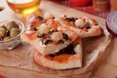 Onion pizza Royalty Free Stock Photography
