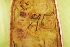 Onion potato bake Stock Photography