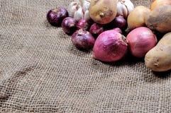 Onion, Potatoes and garlic Royalty Free Stock Photography