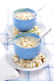 Onion pureed soup Royalty Free Stock Photography