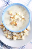 Onion pureed soup Royalty Free Stock Photos