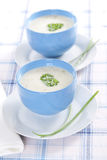 Onion pureed soup Stock Photo