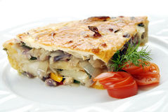 Onion quiche Royalty Free Stock Photography