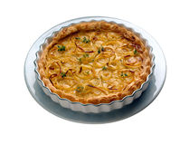 Onion quiche Royalty Free Stock Images