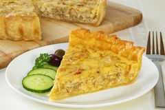 Onion Quiche stock photography
