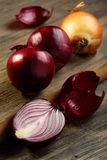 Onion red and gold. Royalty Free Stock Images
