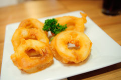 Onion ring food. On the table Royalty Free Stock Image