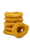 Onion rings. In studio with white and clean background Stock Image