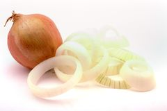 Onion and rings Stock Photos
