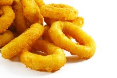 Onion Rings. Breaded and Deep Fried Until Crispy Stock Photography