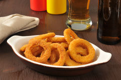 Onion rings and beer Royalty Free Stock Image