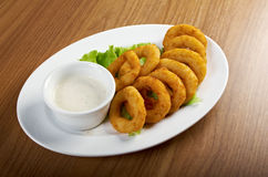 Onion Rings Breaded Stock Photography