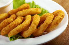 Onion Rings Breaded Stock Image