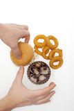 Onion rings ,burger and drink Stock Images