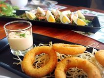 Onion Rings. Great Appetizers choice Royalty Free Stock Photos