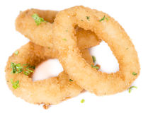 Onion Rings isolated on white Stock Photo