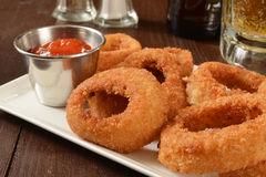 Onion rings nad beer Royalty Free Stock Images