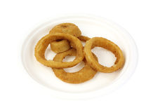 Onion Rings on Plate Royalty Free Stock Image