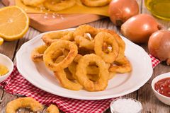 Onion rings. stock image