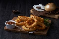Onion rings unique styles. stock photo