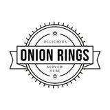 Onion rings vintage stamp sign Royalty Free Stock Photo
