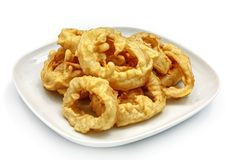 Onion rings on a white background Stock Photography