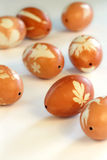 Onion Skin Dyed Easter Eggs Stock Photography