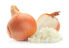 Onion slice on white Royalty Free Stock Photo