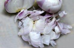 onion sliced Στοκ Φωτογραφία